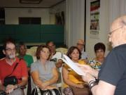 Escritor Ascêncio de Freitas com alunos da Universidade Sénior