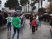 Chuvinha persistente e fria atrapalhou Corso Trapalhão