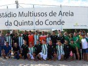 Sporting e Selecção do Concelho inauguraram Estádio Multiusos de Areia da Quinta do Conde