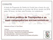 Conferência: A nova política de Transportes e as suas consequências socioeconómicas