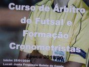 Curso de Árbitro de Futsal na Junta de Freguesia