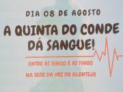 Dê sangue, este sábado, 8 de Agosto, na Voz do Alentejo
