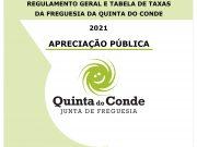 Revisão da tabela de taxas em apreciação pública